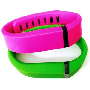 ! Small S 1pc Green 1pc Purple / Pink Replacement Bands + 1pc Free Small Grey Band With Clasp for...