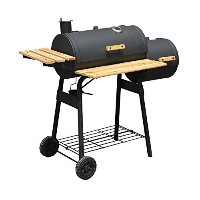 Outsunny 01-0329 Backyard Charcoal BBQ Grill/Offset Smoker Combo with Wheels [並行輸入品]