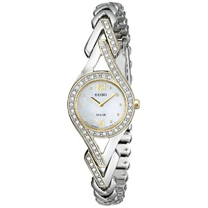 Seiko Women's SUP174 Swarovski Crystal-Accented Two-Tone Solar Watch セイコーレディース腕時計