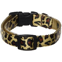 Sassy Dog Wear 10-14-Inch Natural Leopard Dog Collar, Small by Sassy Dog Wear