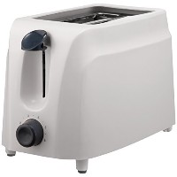 Brentwood TS-260W Cool-Touch Toaster, 2-Slice [並行輸入品]