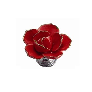 Toaster Tops Red Flower Knob (plate not included) [並行輸入品]