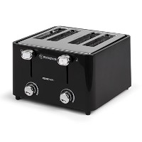 Westinghouse WT44BA Select Series 4 Slice COOL TOUCH Toaster, Extra Wide Slot, Black [並行輸入品]