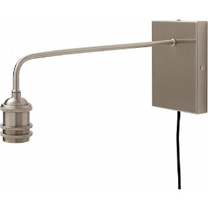 ジェネラル 1灯用ソケット GENERAL BRACKET LAMP LONG E26 (003050) (SILVER)