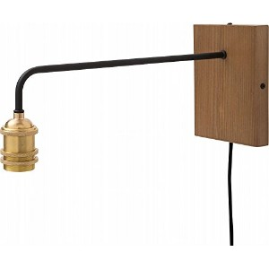 ジェネラル 1灯用ソケット GENERAL BRACKET LAMP LONG E26 (003050) (BRASS/ BROWN WOOD)