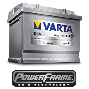VARTA Silver dynamic■プジョー/PEUGEOT/407 SW 3.0/ABA-D2BRV※55Ahバッテリー幅245装着車【D15_563 400 061】国際基準を遥かに超えた高...