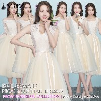 Champagne Colored Bridesmaid Dresses Beige Prom Dresses Homecoming Dresses Wedding Lace Dress