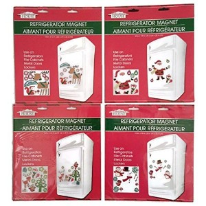 Assorted Christmas and Winter Themed Refrigerator Magnets by Greenbrier