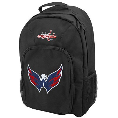 NHL チームロゴ バックパック キャピタルズ(ジュニア) Washington Capitals Youth Black Southpaw Backpack