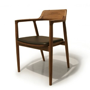 MARUNI COLLECTION HIROSHIMA ARM CHAIR cusioned(Walnut) レザー張地 No.2986-21 L-01(cc-wn)【マルニ木工/ヒロシマアームチェア...