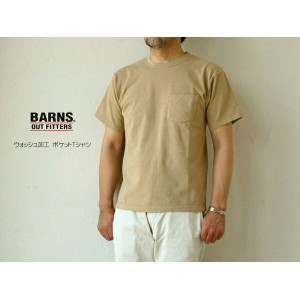 BARNS outfitters (メンズ・バーンズ) ウォッシュ加工 ポケットTシャツ