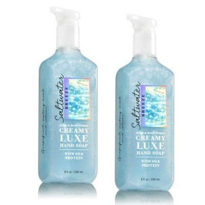 Bath & Body Works ソルトウォーターブリーズ クリーミー リュクス ハンドソープ 2本セット SALTWATER BREEZE Creamy Luxe Hand Soap. 8 oz...
