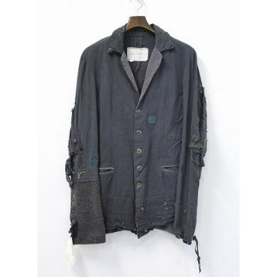 【新品】 GREG LAUREN (グレッグローレン) THE CHARCOAL TENT BUTTON FRONT DICKENS テーラードジャケット 1 CHARCOAL