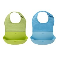 OXO Tot 2 Piece Roll Up Bib, Aqua/Green by OXO [並行輸入品]