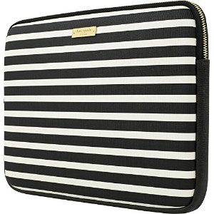 "Kate Spade New York Printed Sleeve for 13 "" MacBook /ノートパソコン – Fairmount Squareブラック/クリーム( ksmb-012..."