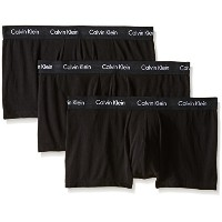 Calvin Klein Men's 3-Pack Cotton Stretch Low Rise Trunk