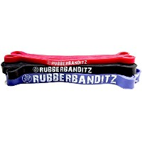Rubberbanditz Pull Up Assistance/CrossFit Band Set - Medium, Heavy, Robust Bands