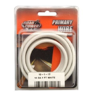 Woods Ind.10-1-17PVC-Coated Primary Wire-7' 10GA WHT AUTO WIRE (並行輸入品)