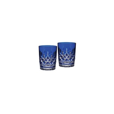 Waterford Crystal Lismore Cobalt Double Old Fashioned, Pair by Waterford