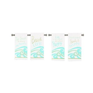 Young's 4 Piece Fabric Beach Tea Towel Set, 26.25' [並行輸入品]