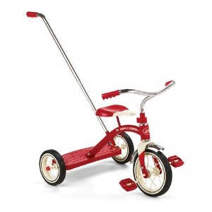 "ラジオフライヤー#34T/RadioFlyer Classic Red 10"" Tricycle w / Push Handle"