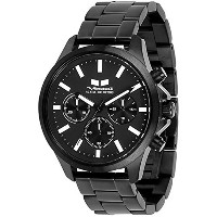 ベスタル Vestal Unisex HEI3CM02 Heirloom Chrono Analog Display Analog Quartz Black Watch [並行輸入品]