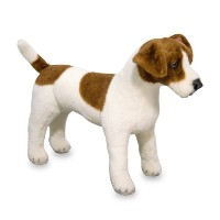Melissa & Doug Giantジャックラッセル・テリア – Lifelike Stuffed Animal Dog ( over 12 inches tall )