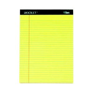 Docket Ruled Perforated Pads, Legal Rule, Ltr, Canary, 12 50-Sheet Pads/Pack (並行輸入品)