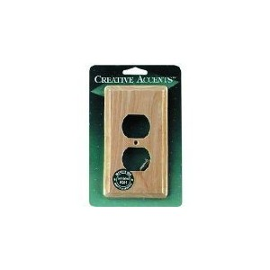 Contemporary Ash Unfinished Outlet Wall Plate-ASH OUTLET WALL PLATE (並行輸入品)