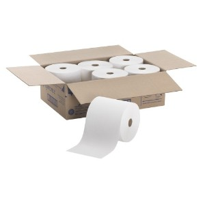 High-Capacity Nonperf Paper Towels, 7 7/8 x 1000 ft, White, 6/Carton (並行輸入品)