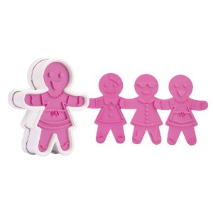 Tovolo Ginger Girl Cookie Cutter, Pink by Tovolo