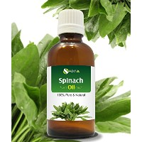 SPINACH OIL (SPINACIA OLERACEA) 100% NATURAL PURE CARRIER OIL 100ML