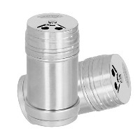 Acevan Stainless Steel Dredge Salt / Sugar / Spice / Pepper Shaker Seasoning Cans with Rotating...