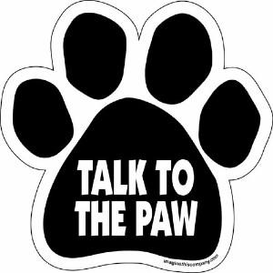 Imagine This Paw Car Magnet, Talk to the Paw, 5-1/2-Inch by 5-1/2-Inch by Imagine This