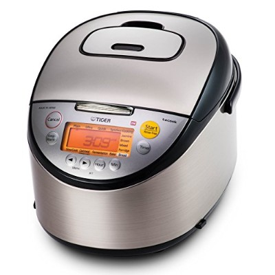 Tiger Corporation JKT-S18U-K IH Rice Cooker with Slow Cooker and Bread Maker, Stainless Steel,...