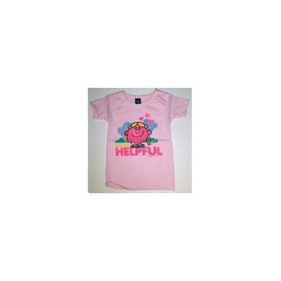 Junk Food Baby's T-Shirt Miss Helpful Light Pink ジャンクフード 乳児用T-シャツ ミス ヘルプフル ライトピンク