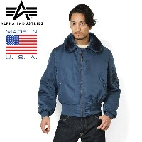 15%OFFクーポン対象◆ALPHA アルファ 1990年代デッドストック MADE IN USA VINTAGE B-15フライトジャケット AIR FOROCE BLUE ギフト プレゼント...