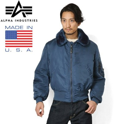 20%OFFクーポン対象◆ALPHA アルファ 1990年代デッドストック MADE IN USA VINTAGE B-15フライトジャケット AIR FOROCE BLUE WIP メンズ...