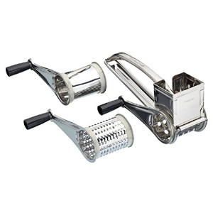 Kitchen Craft St Steel Rotary Cheese Grater With Three Drums KCDRUM3