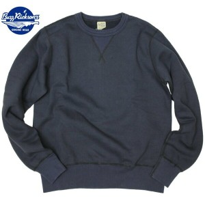 BUZZ RICKSON'S (バズリクソン)Set-In Sleeve Sweat Shirts Navy