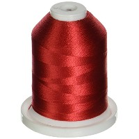 Rayon Super Strength Thread Solid Colors 1100 Yards-Tuxedo Red (並行輸入品)