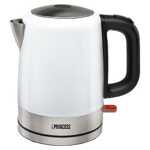 PRINCESS 電気ケトル「Kettle Stainless Steel Deluxe」(1.0L) 236000-WH (ホワイト)(送料無料)
