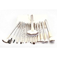 24pcs Fashion Champagne gold Cosmetic Makeup Brushes Set With Leather Bag