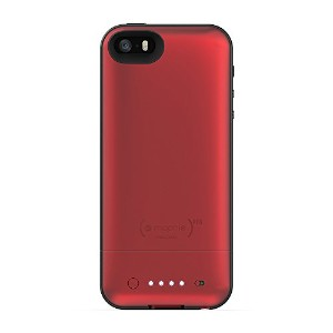 Mophie Juice Pack Air External Battery Case Made for iPhone 5/5s in Red - MFi Approved
