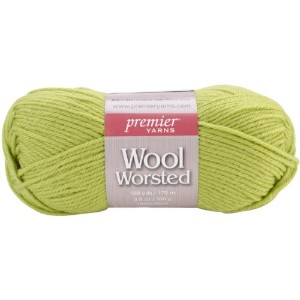 Premier Yarn 3-Pack Wool Worsted Yarn, Gecko Green by Premier Yarn