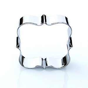 Square Plaque Frame Cookie Cutter- Stainless Steel by Sweet Cookie Crumbs