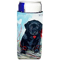 Caroline 's Treasures vlm1019-parentブラックLabrador Puppy Ultra Beverage Insulators forスリム缶vlm1019muk、...