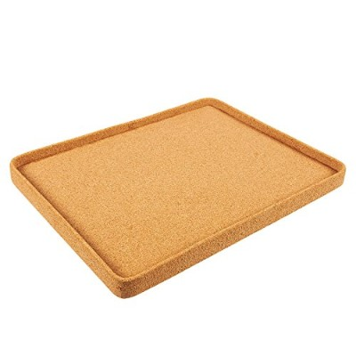 Food Serving Tray - Cork Board Breakfast Serving Tray, Coffee Tray, Drink Tray, Ottoman Bed Tray,...
