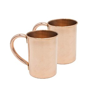 Sinkology Extra Thick Moscow Mule裏地なしマグ( Set of 2)、20オンス、銅