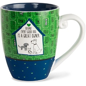It 's Cats & Dogs Behind Every Good Dog Is a Great OwnerセラミックExtra Largeコーヒーマグカップお茶カップ、20オンス、グリーン